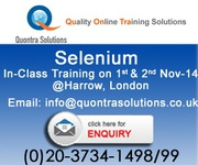 Selenium in-class Training on 1st and 2nd November 2014